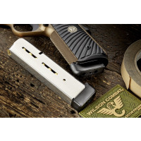 "Wilson Combat 1911 Magazine, .45 ACP, Full-Size (Government Model), 8 Round Capacity, Extended .625"" Plastic Base Pad"